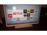 "Toshiba 32D3454DB 32"" Full HD 1080p Freeview HD Smart No WiFi DVD LED TV White"