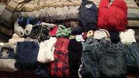 Lot of baby boy clothes sizes 3-6M to 24M