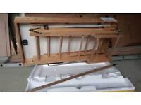 Wooden folding loft ladder