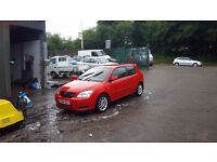 Excellent condition 2004 red corolla t sport fsh