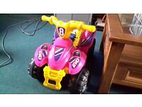Girls electric quad bike.