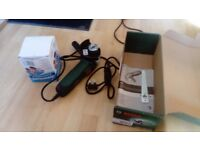 Bosch Angle Grinder + Blades (grinding, cutting and polishing)+ extension cord