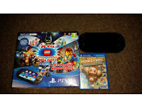 playstation vita slim wifi like new with monkeyball & 8gb memory card boxed