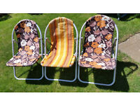 CHILD'S CAMPING CHAIRS (3)