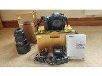 Nikon D500 dx DSLR + ED f2.8 17-55 DX lens complete all in almost new condition. Genuine UK model.