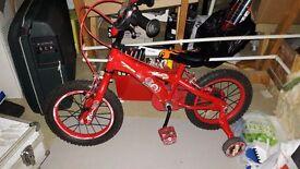 Boys Red Cars Bike