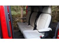 3 cream leather seats Mercedes Benz Vito includes floor fittings