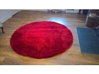 Round Rug Red