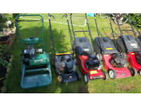 Lawnmowers, hedgecutters, strimmers and chainsaws for sale