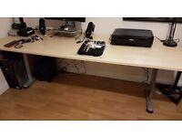 Large office desk 80 x 220cm