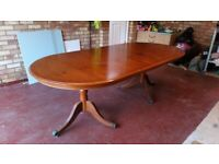 Yew Wood dining table £50