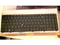 New UK/US, NO BACKLIT keyboard for HP EliteBook Workstation 8770w 8760w - 690648-031