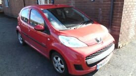 Peugeot 107 1.0 12v Verve 5dr, Red, 2009, 32,000 Miles Full Hist, MOT 06/18 Tax 09/18