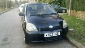 Toyota yaris 1.0lt 5doors manual black.