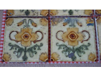 10 embossed Edwardian Fireplace Tiles