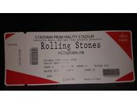 Rollin Stones ticket seated - Cardiff. Less than face value for quick sale.