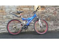 FULLY SERVICED 24 INCH WHEELS FULL SUSPENSION UNIVERSAL NITRO BICYCLE
