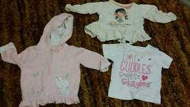 Baby girls clothes and swim pant size 0 to 3 months