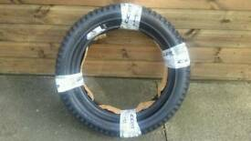 VEE RUBBER TRIALS TYRES 3.50 x 17 and 2.50 x 10 as new and unused pair.