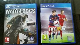 FIFA 16 & WATCHDOGS PS4