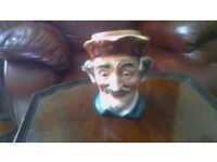 Toby jug style head ornament