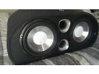 Fli 2400w twin sub with built in amp