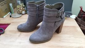 LOVELY BOOTS FROM JUST FAB, brand new, unworn, size 6.5 taupe colour. Sadly too high for me!