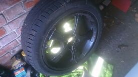 "17"" 5 Spoke Aftermarket Alloy wheels 4x100"