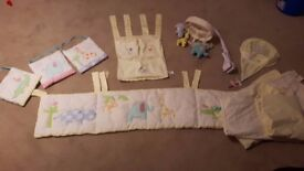 Nursery Jungle Chums Theme Bundle - Curtains, Mobile, Lightshade, Nappy organiser, bumper, Pictures