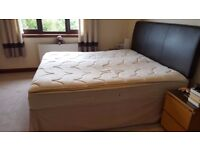 Superking Divan with Storage and Luxury Superking Sealy Pillowtop Mattress