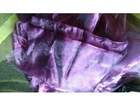 qty 9 purple organza table cloths 6ft x 6ft