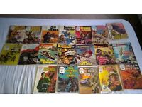 COLLECTION OF COMMANDO, FLEETESTS LIBRARY, BATTLE PICTURE AND WAR PICTURE OLD COMICS.