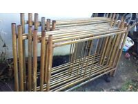 Gold Scaffold Tower Steel 12 sections @120x80 approx 4M working height+7 braces