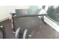 Fitness Bench and Weight