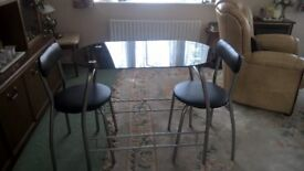 Breakfast dining table and chairs. As new only used a couple of times on my narrow boat.