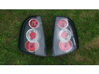 Black Lexus Style Rear Tail Lights Lamps for Skoda Fabia Mk1