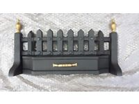 BLACK AND BRASS FIRE FRONT