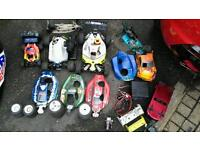 Joblot of nitro rc cars including an upgraded hyper 7