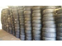 JOB LOT 195 GRADE A PART WORN TYRES ALL RUNNING SIZES PRESSURE TESTED £1750