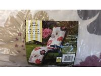 2 x new relaxer chairs red floral
