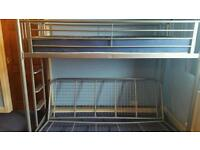 Metal framed bed plus futon/ double bed