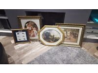 20 gold picture frames different sizes