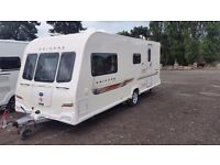 Bailey Unicorn Madrid. 4 Berth Used Touring Caravan. Side Dinette. Great family van