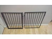 5 panel black painted metal fire surround with gate