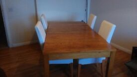 Dining Table (Extendable) & Chairs (4)
