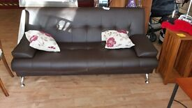 SOFA BED WITH FREE CUSHIONS