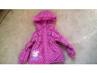M & Co Girl's Peppa Pig Coat 2-3 Years