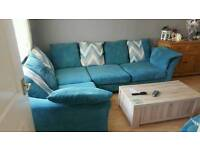 Large corner sofa and cuddle chair