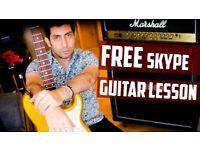 FREE Skype guitar lesson