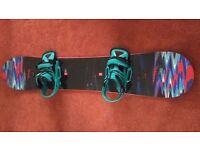 Burton Sherlock Flying V 157cm Snowboard, Bindings & Bag ONO